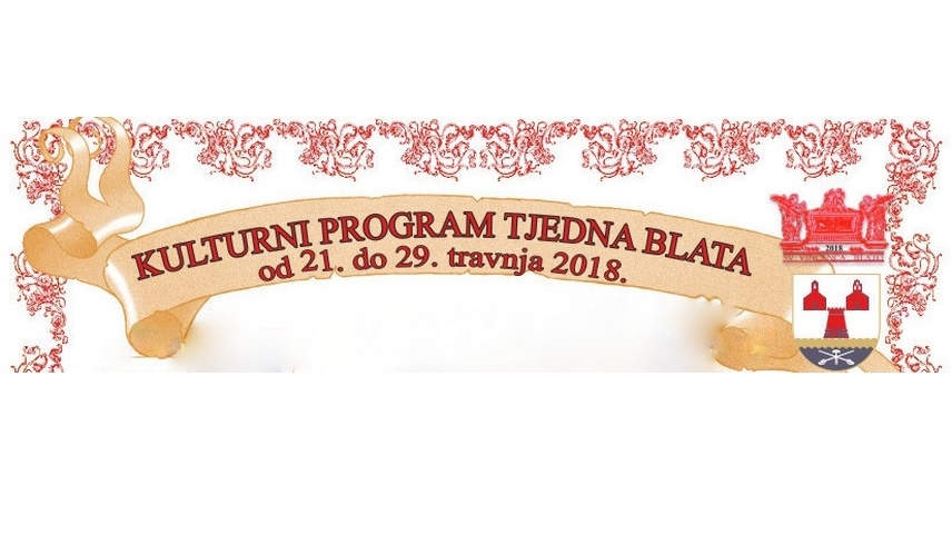 Kulturni program Tjedna Blata 2018.